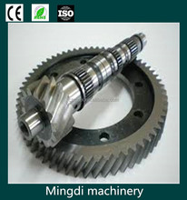stainless steel / brass crown and pinion gear, custom bevel pinion gear