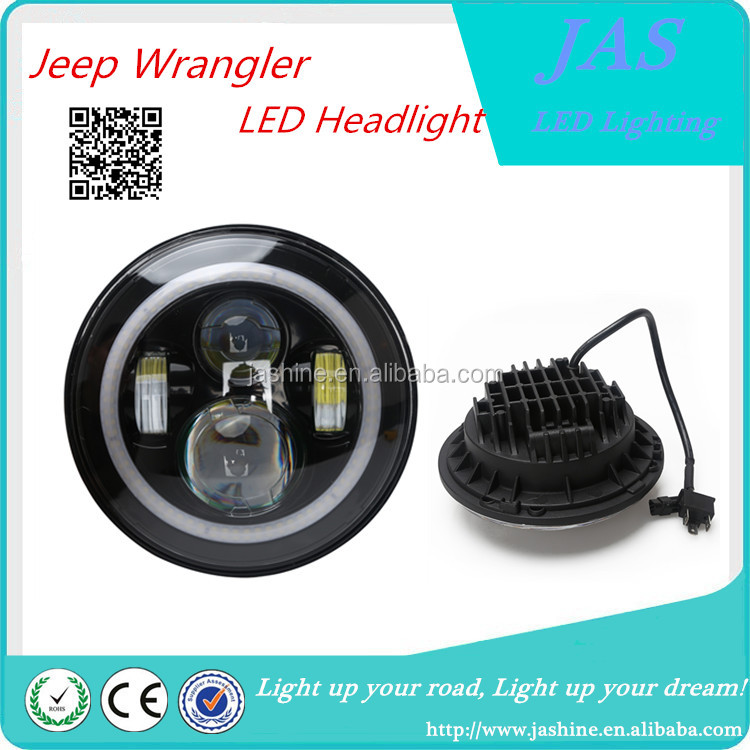 "Jeep Wrangler 7"" led headlight Round 80w led work light 7 inch led headlight"