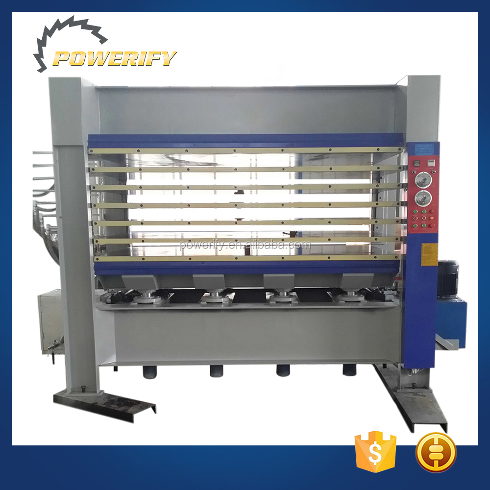 Powerify Brand BY214x8/16(3)H 160T 3 Layers Plywood And MDF Door Laminating Hydraulic Hot Press Machine