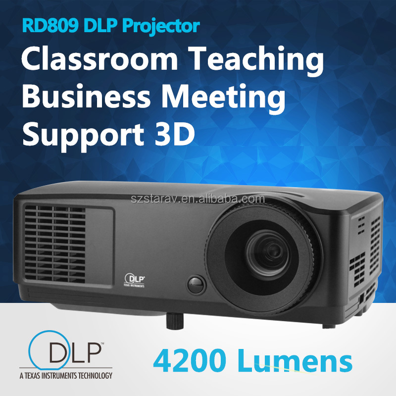 New Long throw projection Daylight 3000 ANSI LumensUSB HDMI Support 1080p full HD multimedia 3D DLP Projector Proyector beamer