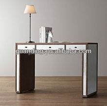 Latest new design popular hot sale modern mirrored glass office table