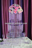 Beautiful crystal flower stand for wedding table