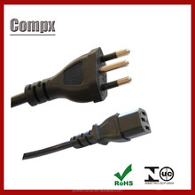 SF Cable 6ft Brazil 3 pin Plug to C13 Power Cord