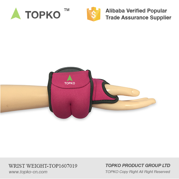 TOPKO Wholesale Good Quality adjustable Wrist ankle weight / Wrist Weight
