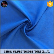 75D polyester waterproof plain dyed stretch yarn pongee fabric for shell fabric