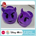 Comfortable Children Shoes custom soft Plush emoji slipper