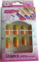 plain artificial nail tips,crackle full cover artificial nails