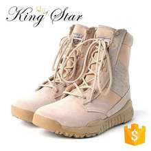 Hot Sale Combat Desert Rubber Army Boot Men Genuine Leather Shoes