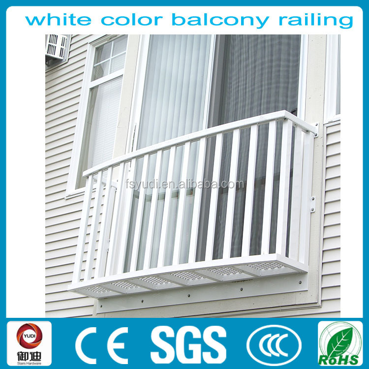 white cast iron balcony railing for fence