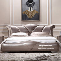 2015 Modern HOT Model King bed Wood Carved
