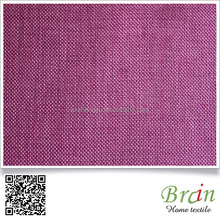 Customized Color Available Polyester Material Jute Like Plain Sofa linen fabric Material