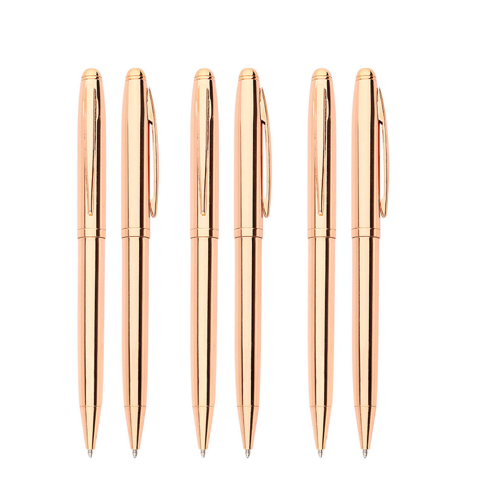 good quality elegant custom logo rose gold metal ball <strong>pen</strong>,rose gold office supplies