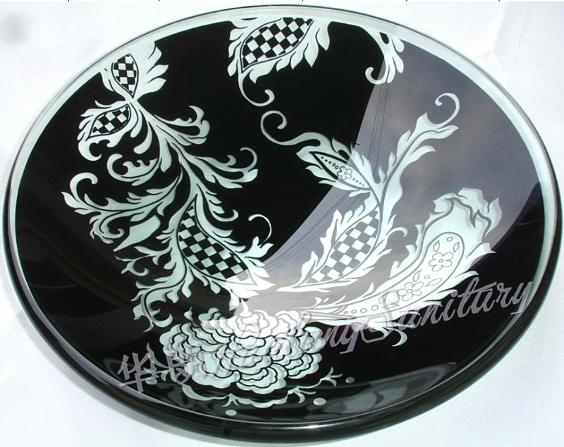 Tempered Glass wash basin,KTV/Cofa/ Hotel Fruit glass plate, double layer
