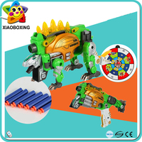 Most popular diecast air soft bbs gun transformable robot toy for kids