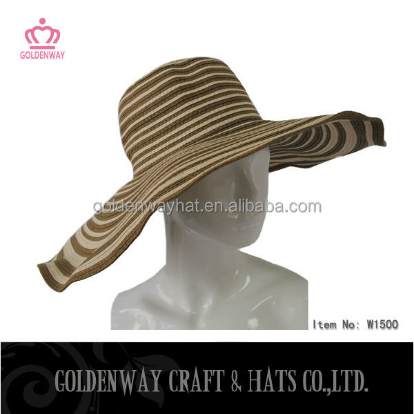 fashion ladies wide brim hat wedding dress hats