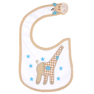 100% cotton waterproof baby bibs with embroidery