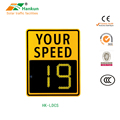 Fixed radar Speed Warning Signs Outdoor Speed Detection Signs Solar Powered Speed Limit Sign