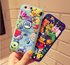 "CASESOPHY 3D Cartoon Monsters Case for Apple iPhone 6+ / iPhone6s Plus Large Size 5.5"" Screen Soft Silicone Rubberized Material"