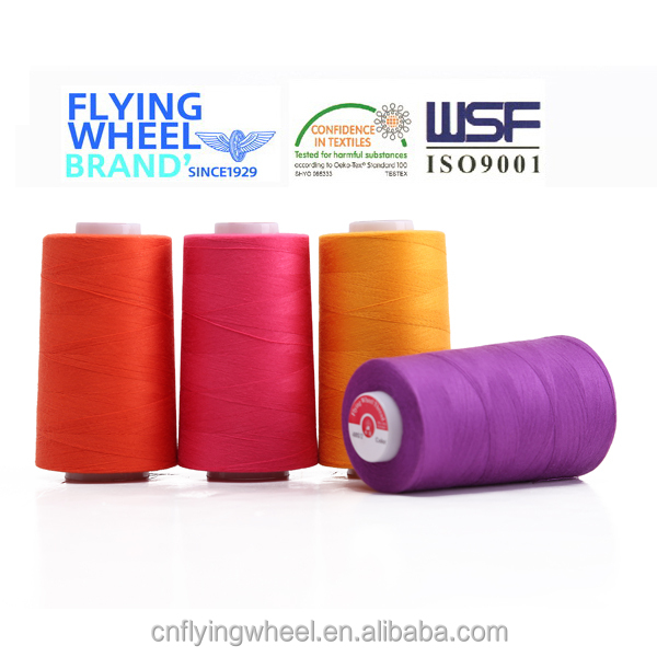 Poly poly core spun sewing thread price of cone thread