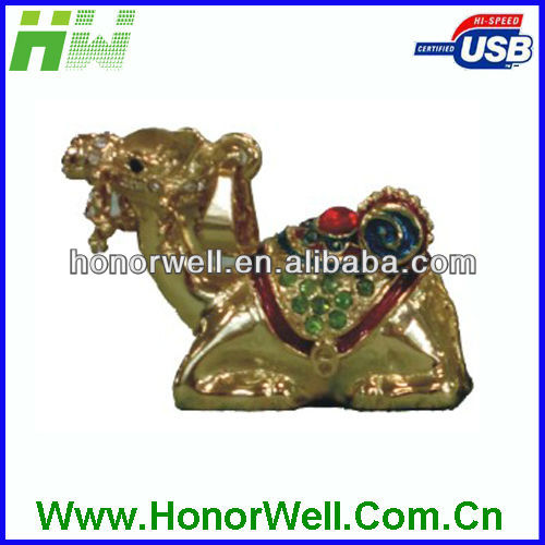 Jewelry Camel USB FLASH DRIVE Clock Accessory