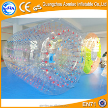 Hot CE 1.0mmTPU crazy inflatable fun roller,water walking rollers for sale