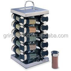 Carousel Spice Rack With 8 Spice Jars