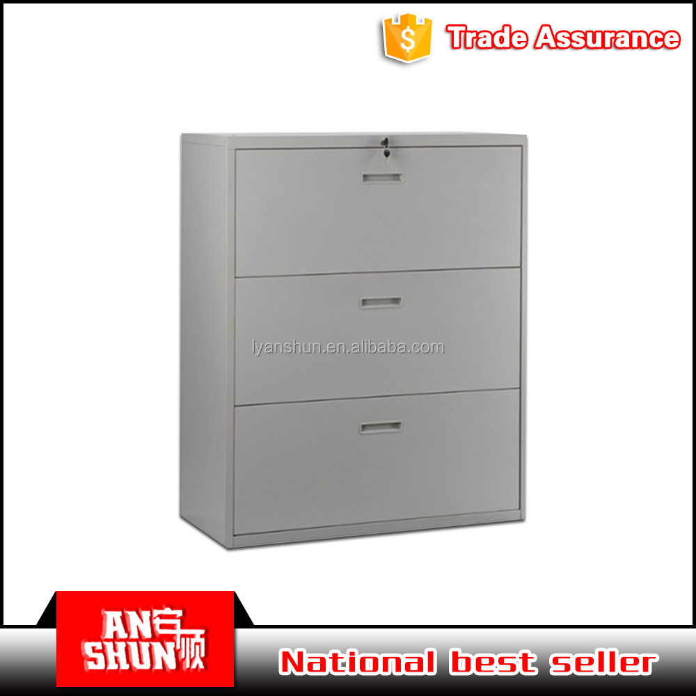 GREY Cold rolled steel plate 3 drawer file cabinet map storage cabinet made in China