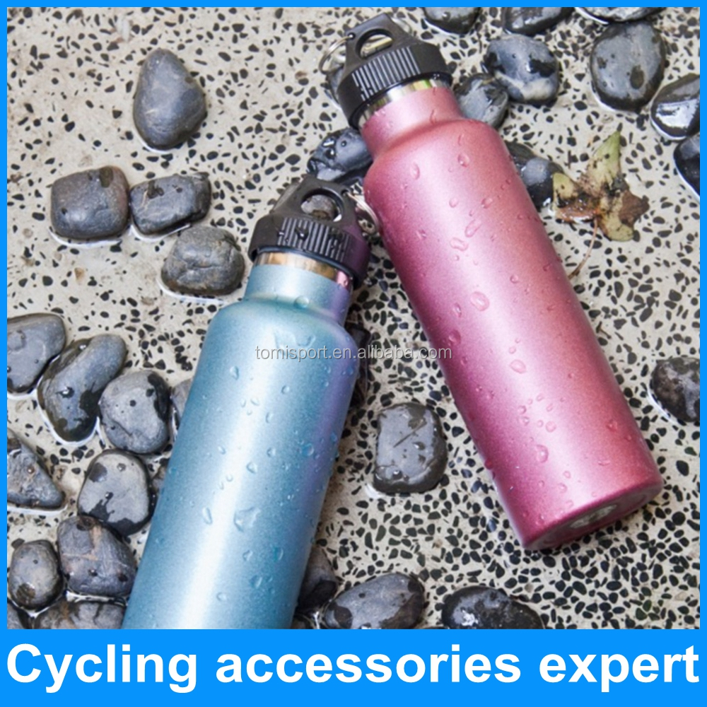Food grade stainless steel double wall bicycle cycling water bottle