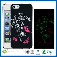 C&T Glow in the dark morning glory pattern hard case cover for iphone 5s
