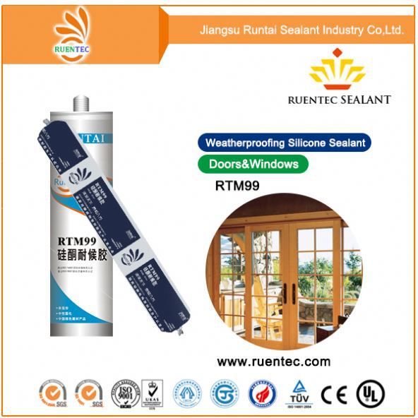China manufacturer Heat resistant High grade white rtv silicone sealant for gap sealing