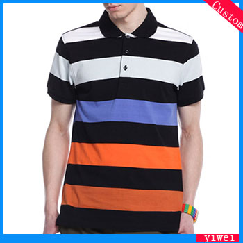 Designer Stripe Polo T Shirts Wraps for Mens Slim Fit