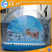 Xmas inflatable snow globe, christmas inflatable snow globe sale