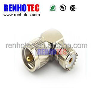 UHF Female to UHF Male with 90 Right Angle 50ohm RF Adapter