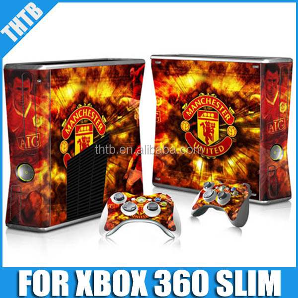 2014 games console controller accessories for XBOX 360 SLIM skin sticker
