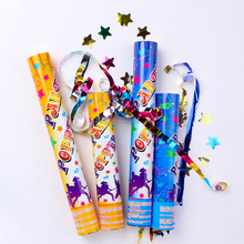 High Quality party popper confetti canon with colorful metallic foil star