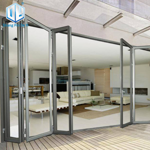 Aluminum Alloy frame glass garage folding door