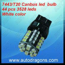 7443 Canbus /error free 44 pcs 3528 smd led bulb white collor auto led bulb