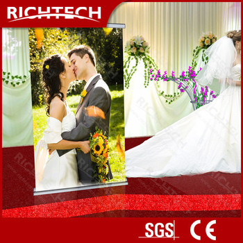 RichTech 80*200 half print and half screen projetion roll up stand price
