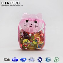 Lucky cat handbags gift mixed fruit jelly in cups jelly