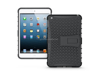 TPU+PC armored stand case protector back cover for ipad mini 4