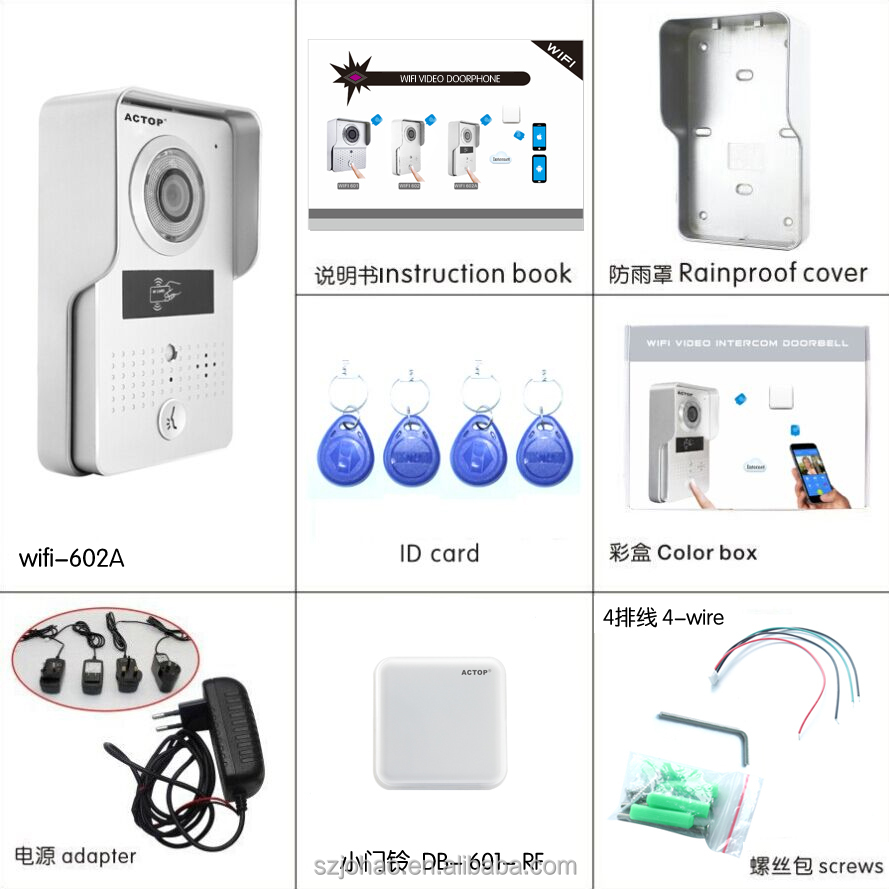 ACTOP 2016 new products night vision ID keypad Android/IOS wifi video door phone remote door lock
