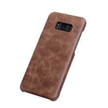 handmade design genuine leather case for samsung s8