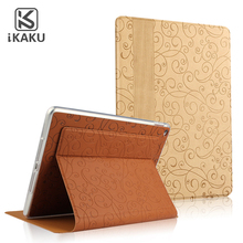 KAKU for ipad air 2 rotating/rotate leather case ,for ipad 2 3 4 accessories sublimation smart cover case leather black