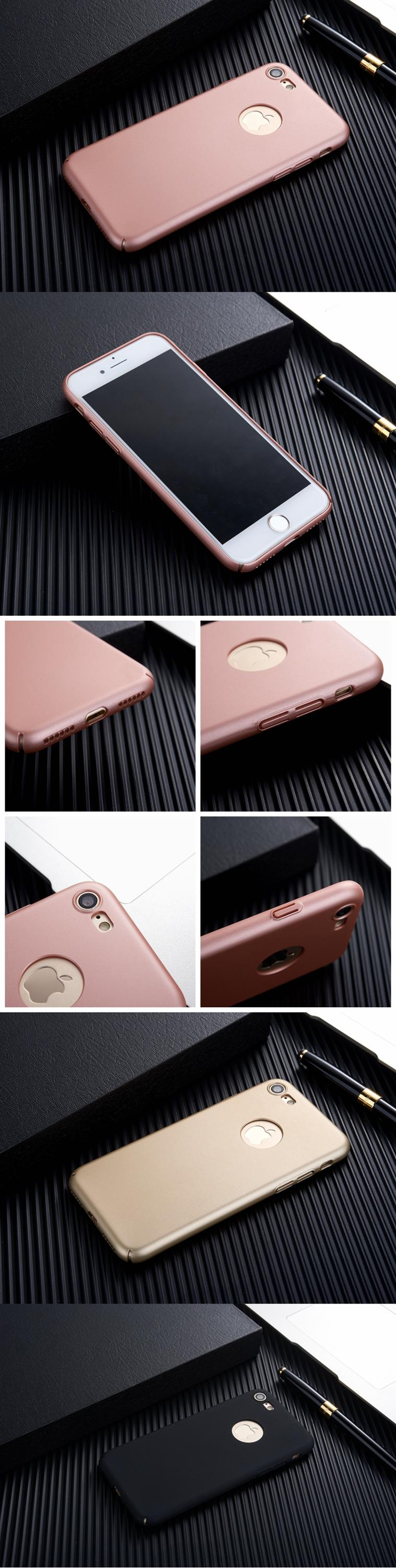 Free Ship for iphone 7 Case Ultra Thin Hard Full Cover Slim i phone7 Case Phone Case for apple iphone 7 plus Logo Hole