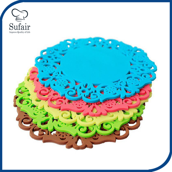 FDA approved heat resistant table decoration silicone coffee pads silicone cup mat