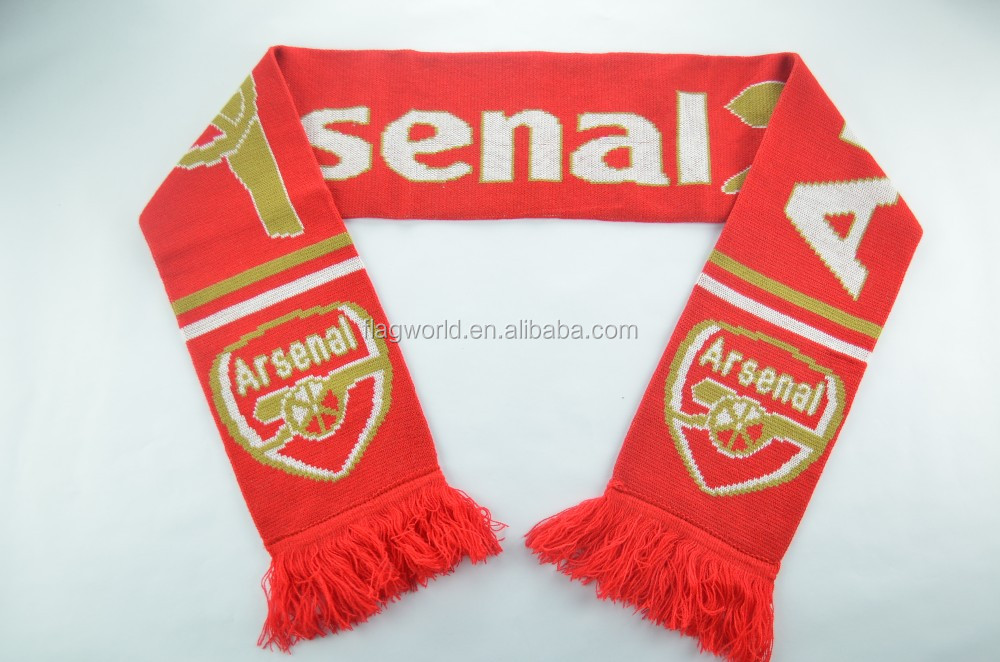 100% acrylic promotional gift football scarf from wenzhou Fly