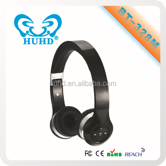 Factory wholesale bluetooth heaphone without wire, wireless headphone with FM radio