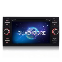 Double din Android 4.4.4 Quad-Core 7 inch car stere radio gps For Ford Mondeo Transit Galaxy car dvd player