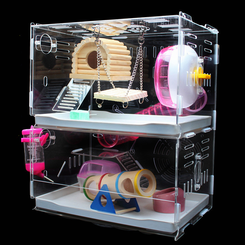 Transparent acrylic hamster cage,rats house, pet house