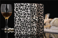 Hot Selling Leopard Print Leather Case For iPhone 6 Cover With Card Slot
